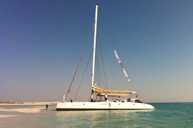 Catamaran at Belevari Island