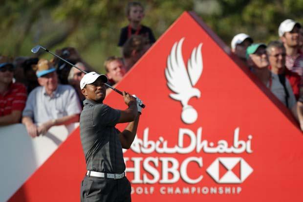 Tiger Woods Abu Dhabi 2012