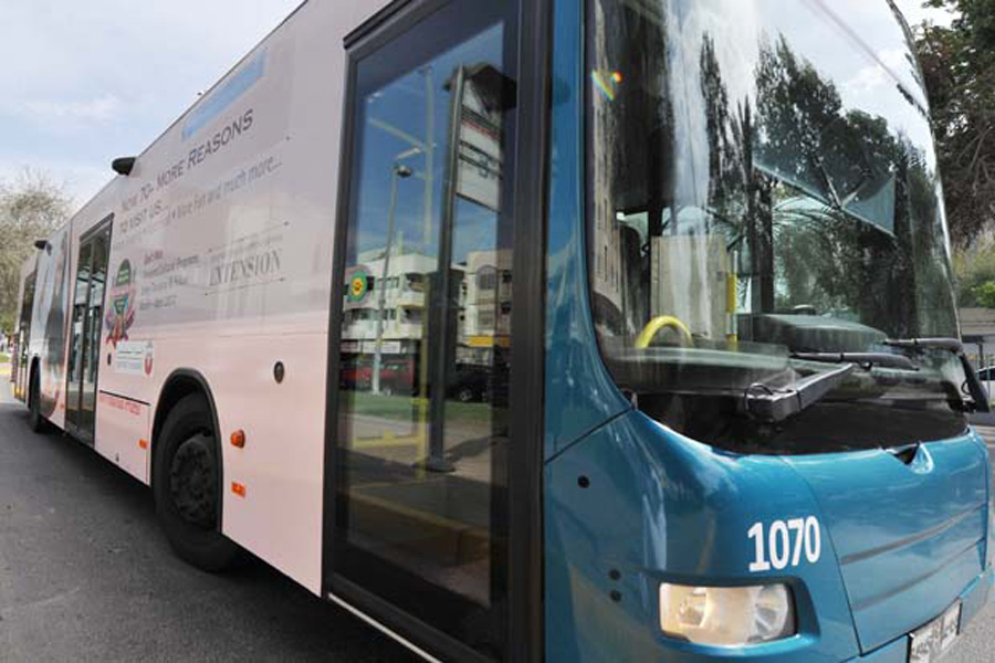 Buses in Abu Dhabi VisitAbuDhabiae